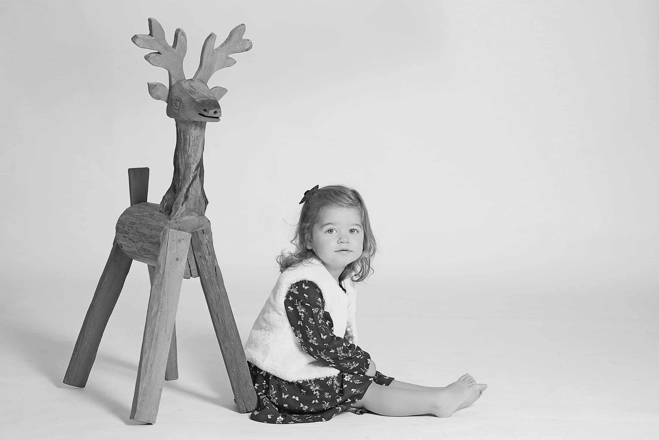 kinderfotograaf zwart wit foto