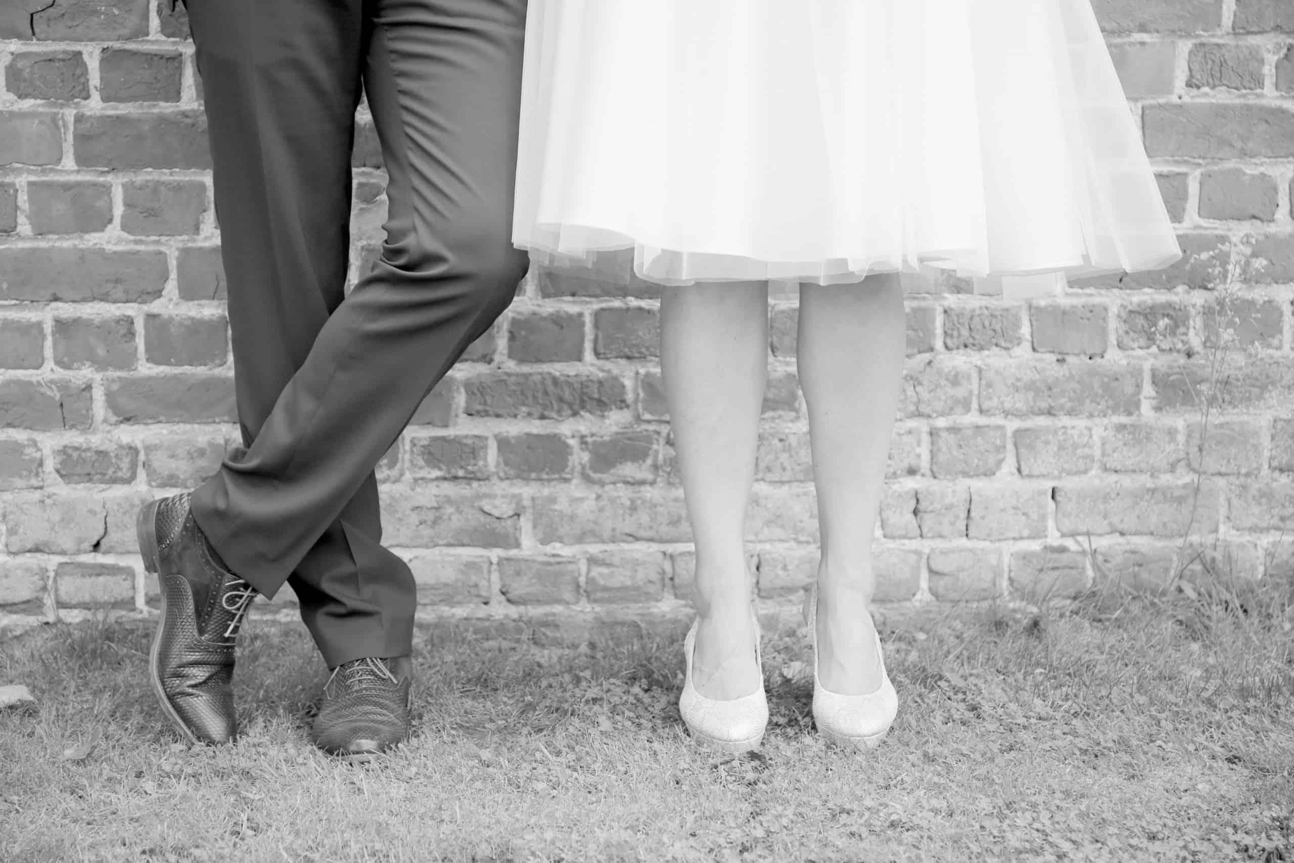 huwelijksfotograaf zwart wit foto